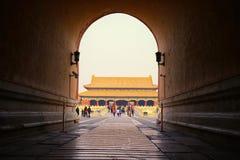 Forbiddenet City, beijing Royaltyfria Bilder