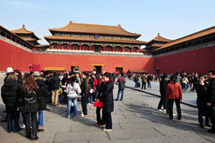 Forbiddenet City i Beijing Kina Royaltyfria Foton