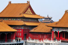 Forbiddenet City i Beijing Kina Royaltyfria Bilder