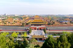 Forbiddenet City i Peking royaltyfria foton