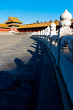 Forbiddenet City i Peking Royaltyfri Bild