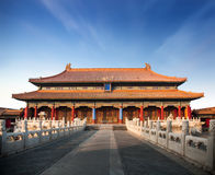 Forbiddenet City i Peking royaltyfria bilder