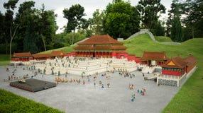Forbiddenet City Lego Model Royaltyfri Bild