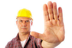 Forbidding gesture stop Stock Images