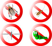 Forbidding signs. On white background Stock Photo