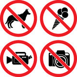 Forbidding Vector Signs Royalty Free Stock Images