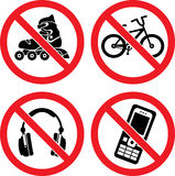 Forbidding Vector Signs Stock Photo