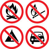 Forbidding Vector Signs Stock Images