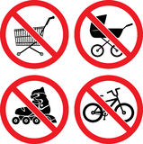 Forbidding Vector Signs Royalty Free Stock Photography
