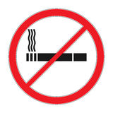 Forbidding vector signs No smoking. Cigarette outline and linear pictogram isolated on white. Cigarette icon. Smoking sign. Toba Stock Image