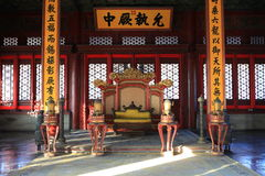The Forbiden City inner of Taihe palace. The inner of the TaiHei Palace in the forbidden city Stock Images