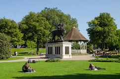 Forbury Gardens, Reading in late summer Royalty Free Stock Photo