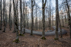 Forca d`Acero, access to Parco Nazionale d`Abruzzo, Italy stock photo