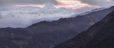 Forcan Ridge en Kintail en Escocia Imagen de archivo