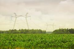 Force électrique à haute tension photographie stock