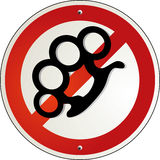 Force brass knuckles banned Stock Photography