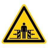 Force d'écrasement de corps de signe de symbole de deux côtés, illustration de vecteur, isolat sur le label blanc de fond EPS10 illustration de vecteur