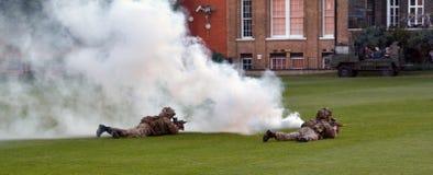 Force d'armée britannique pendant l'exposition militaire de démonstration Images stock