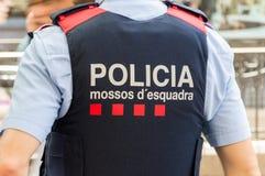 Force de police d'Esquadra de ` de Mossos d de signe de la Catalogne photos stock