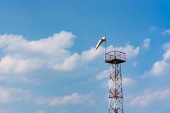 Force et direction de mesure de vent utilisant un cône images libres de droits