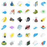 Force icons set, isometric style. Force icons set. Isometric style of 36 force vector icons for web isolated on white background Stock Images