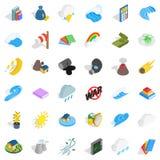 Force icons set, isometric style Stock Images