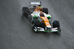 Force India F1. A Force India car carries out a practice session at Spa, Francorchamps '12 Stock Image