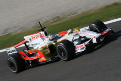Force india f1 and Sutil royalty free stock photography