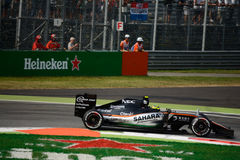 Force India Formula 1 at Monza driven by Sergio Perez. Force India-Mercedes VJM09 during Friday free practice session of the 2016 Formula One Italian Grand Prix Stock Photos