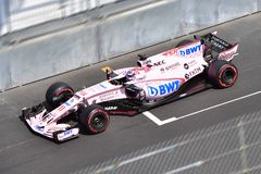 FORCE INDIA-PEREZ-GP F1 MONACO 2017 DU SAHARA Photo libre de droits