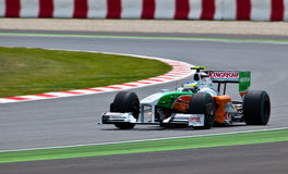 Force India VJM02. Montmelo, Spain - May 10: Formula 1 team Force India participates in the Spanish Grand Prix at the Circuit de Catalunya on May 10, 2009. Both stock images