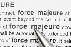 Force Majeure Royalty Free Stock Photography