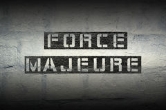Force majeure GR Royalty Free Stock Image