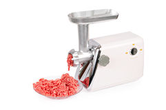 Force-meat and meat grinder. Stock Photography