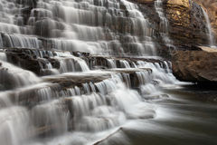Force Of Nature. Scenic view of a cascade waterfall in Hamilton, Ontario Stock Images