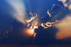 Force of nature,the powerful sky,Sunlight. Power of the sun Sunrise Sunlight Backgrounds Sky tropical cloud Royalty Free Stock Photography