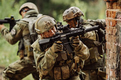 Force Rangers stormed the building Royalty Free Stock Photo