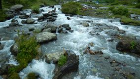 Force of water in Kashmir Stock Photo