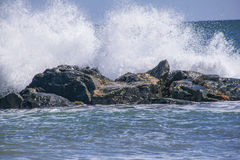 Force of a wave Stock Images