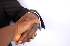 The Forced Deal. This is an image of businessman forced in a handshake royalty free stock image