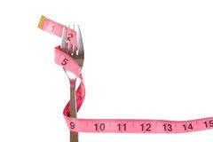 Forcella avvolta con nastro adesivo di misurazione Fotografie Stock