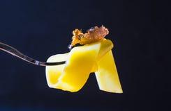 Forcella con pasta Immagini Stock Libere da Diritti