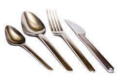 Forcella, cucchiai, lama Fotografia Stock