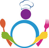 Forcella del cucchiaio del cuoco unico illustrazione vettoriale