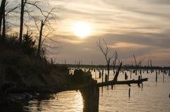 Forcella del lago, TX - tramonto Fotografie Stock Libere da Diritti