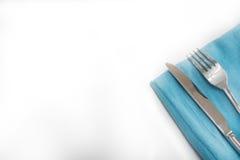 Forcella e coltelleria Fotografia Stock Libera da Diritti