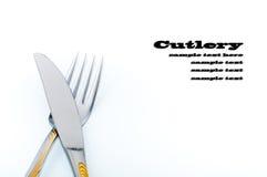 Forcella e coltello Immagine Stock