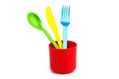 Forcella, lama, cucchiaio Immagine Stock