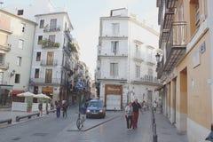 Forcella nella strada, Spagna Fotografia Stock