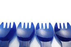 Forcelle di plastica Fotografie Stock
